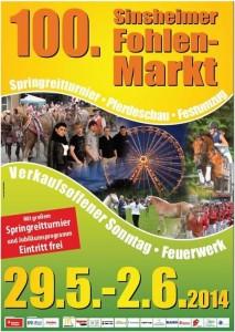 Fohlenmarkt Plakat 2014