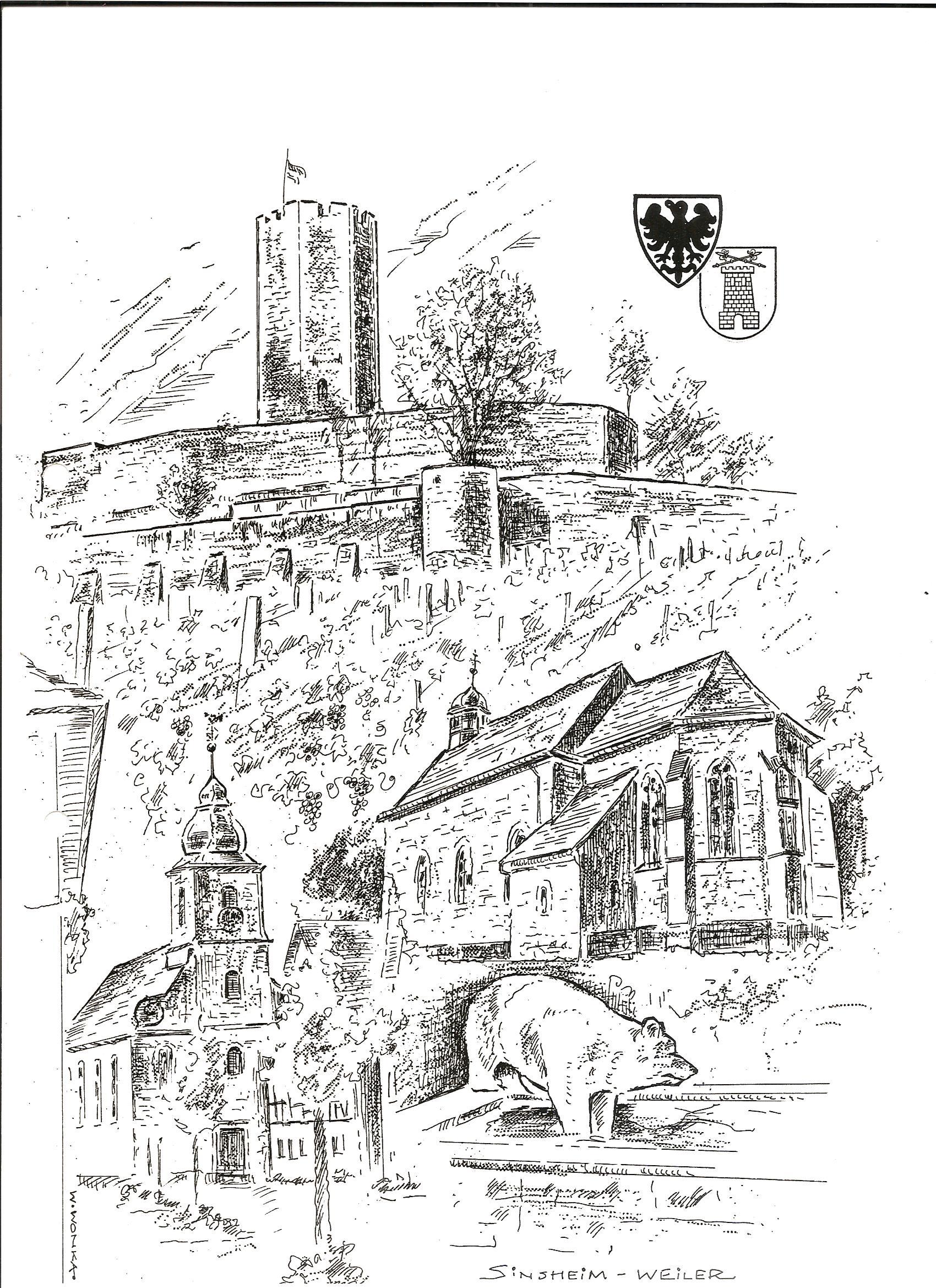 Burg Steinsberg Weiler  Stich29